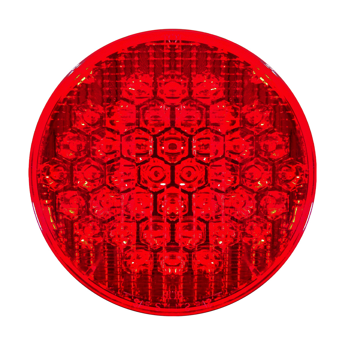 Led 4 U0026quot  Round Red Sealed S  T  T Light W  Reflector